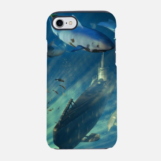 Submarine and Sharks iPhone 7 Tough Case