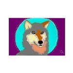 wolf Rectangle Magnet (10 pack)