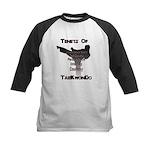 Traditional Taekwondo Tenets Kids Baseball Jersey