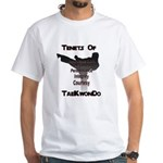 Traditional Taekwondo Tenets White T-Shirt