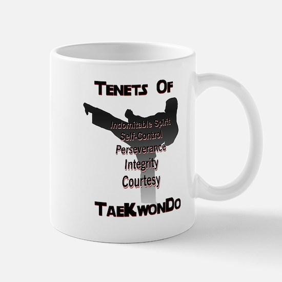 Traditional Taekwondo Tenets Mug