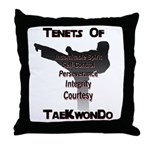 Traditional Taekwondo Tenets Throw Pillow