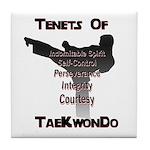 Traditional Taekwondo Tenets Tile Coaster