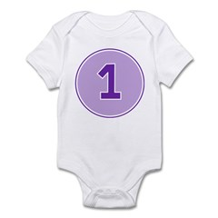 One Year Old Purple - Infant Onesie