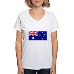 Australian Flag Women's V-Neck T-Shirt