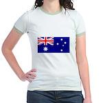 Australian Flag Jr. Ringer T-Shirt