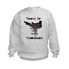 Traditional Taekwondo Tenets Kids Sweatshirt