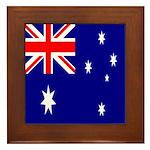 Australian Flag Framed Tile