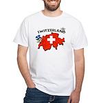 Switzerland White T-Shirt
