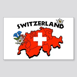 Switzerland Rectangle Sticker