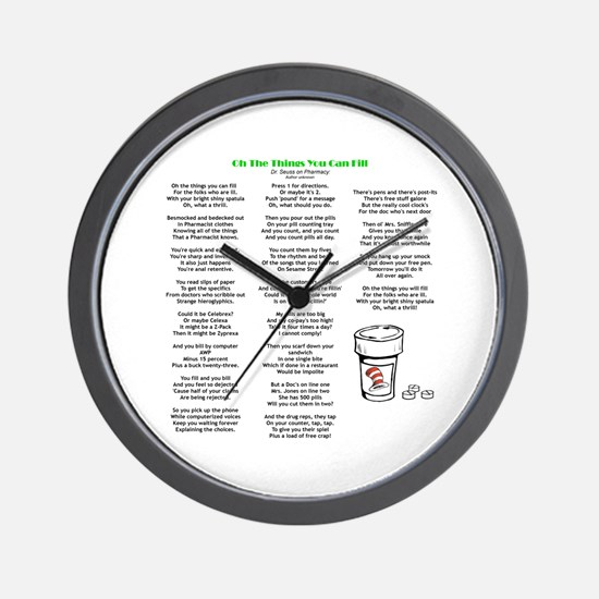 Things You Can Fill Wall Clock