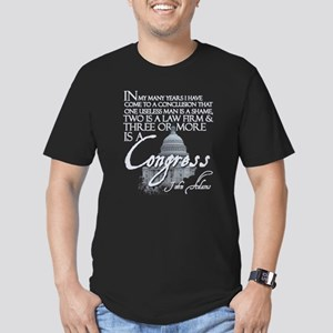 John Adams on Congress Men's Fitted T-Shirt (dark)