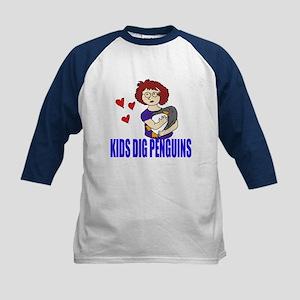 Kids Dig Penguins Kids Baseball Jersey