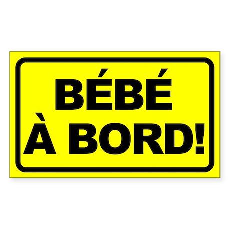 Bebe a Bord Rectangle Sticker