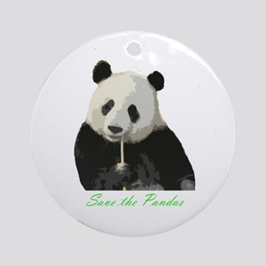Save the Pandas Ornament (Round)