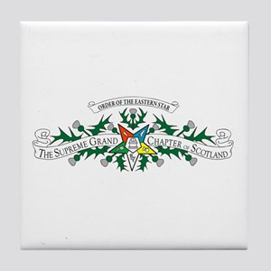 Scotland Eastern Star Tile Coaster