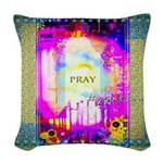 Mother Mary Woven Throw Pillow