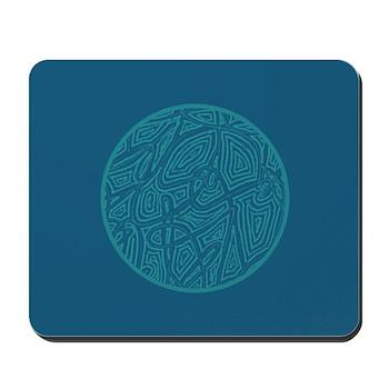 Scribble Circle Mousepad