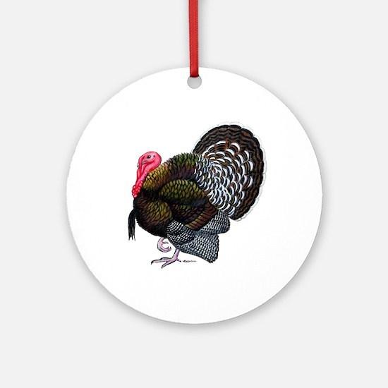 Brown Tom Turkey Ornament (Round)