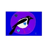 Magpie Rectangle Magnet (10 pack)