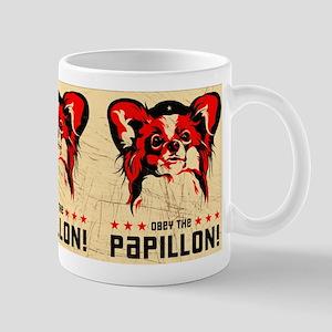 Obey the Papillon Vintage poster Mug