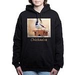 Chickadee on Birdhouse Women's Hooded Sweatshirt