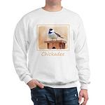 Chickadee on Birdhouse Sweatshirt