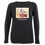 Chickadee on Birdhouse Plus Size Long Sleeve Tee