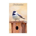 Chickadee on Birdhouse Sticker (Rectangle 10 pk)