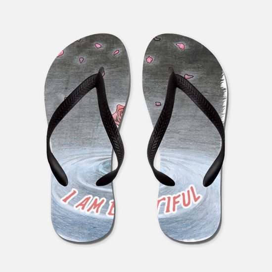 Unique Self help Flip Flops