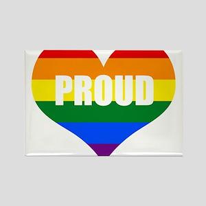 PROUD HEART (Rainbow) Magnets