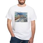John's Pass Watercolor White T-Shirt