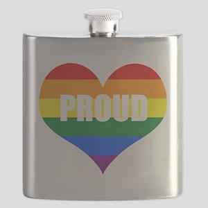 PROUD HEART (Rainbow) Flask