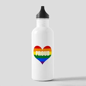 PROUD HEART (Rainbow) Water Bottle