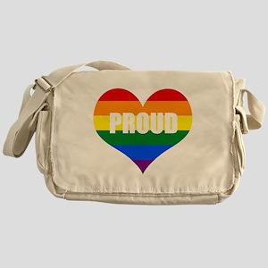 PROUD HEART (Rainbow) Messenger Bag