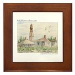 Sanibel Island Florida Lighthouse - Framed Tile