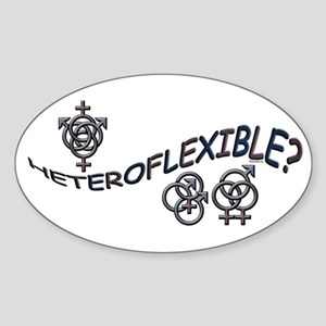 HETEROFLEXIBLE SWINGERS SYMBO Oval Sticker