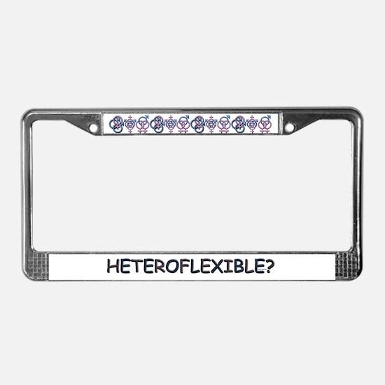 HETEROFLEXIBLE SWINGERS SYMBO License Plate Frame