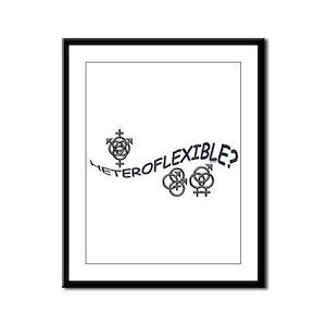 HETEROFLEXIBLE SWINGERS SYMBO Framed Panel Print