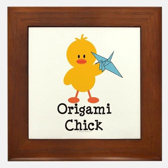 Origami Chick Framed Tile