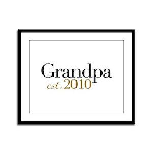 New Grandpa 2010 Framed Panel Print