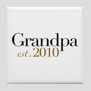 New Grandpa 2010 Tile Coaster