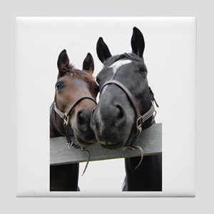 Kissing Horses Tile Coaster