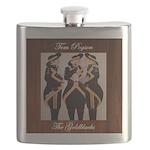 The Goldblacks CD design - Tom Pogson Flask