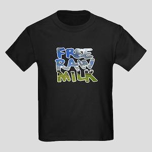 Free Raw Milk Kids Dark T-Shirt