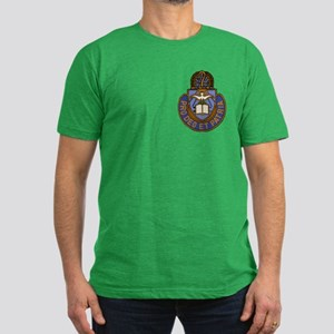 Chaplain Crest Men's Fitted T-Shirt (dark)