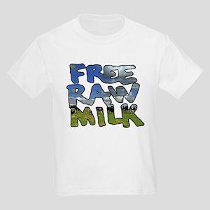 Free Raw Milk Kids Light T-Shirt