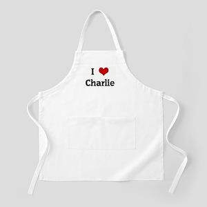 I Love Charlie BBQ Apron