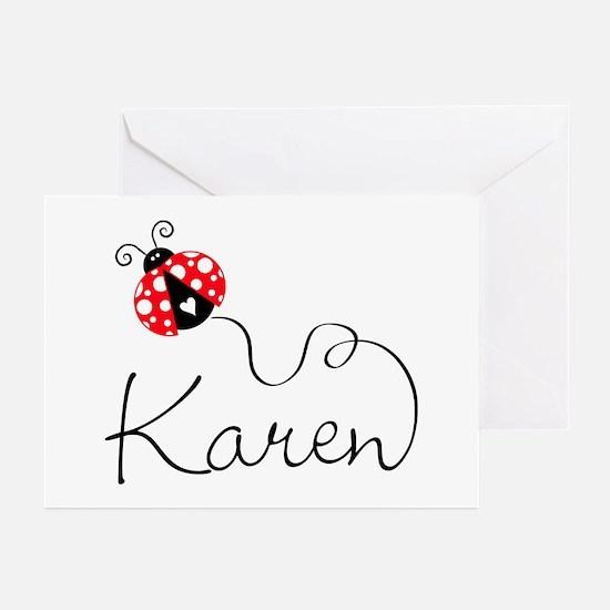 Ladybug Karen Greeting Cards (Pk of 20)