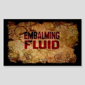 Embalming Fuid Wine Label Sticker